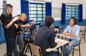 Sistema Etapa entrevista aluna do Colégio